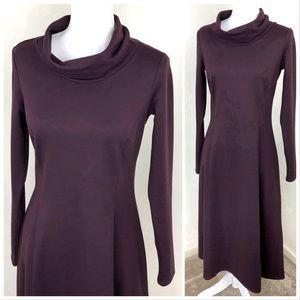 Eddie Bauer Turtle Neck Long Sleeve Sweater Dress